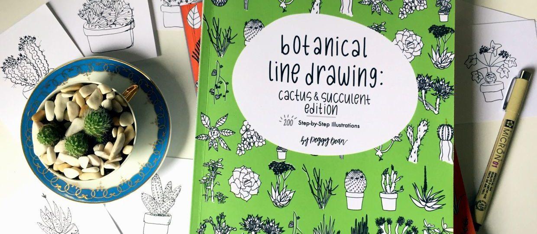 disegnare-facilmente-cactus-e-succulente-Botanical-line-drawing-cactus-e-succulent-edition-by-Peggy-Dean-1240x540