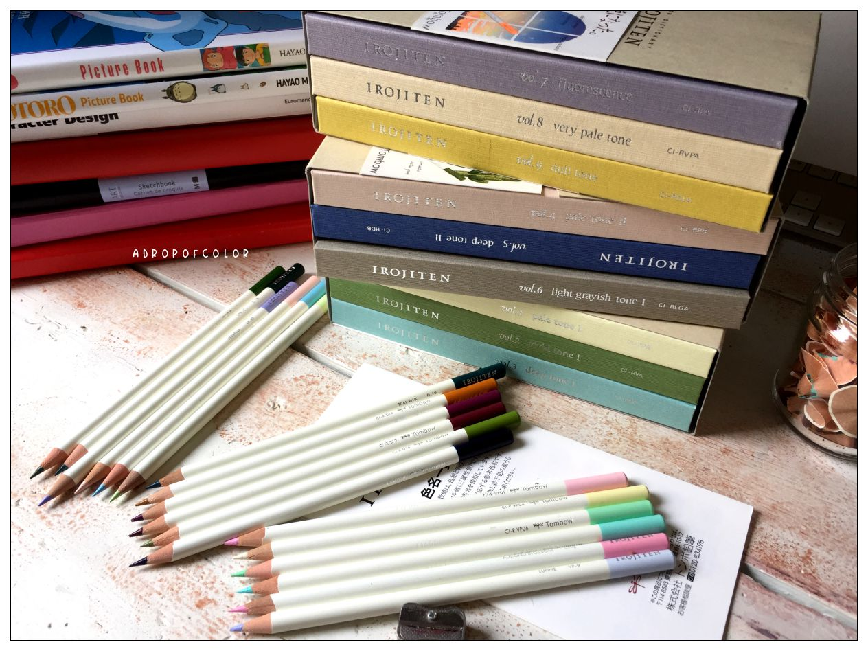 Tombow Irojiten matite colorate professionali collezione completa 90 colori